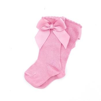 Carlomagno Knee High Socks With Bow - Tea Rose