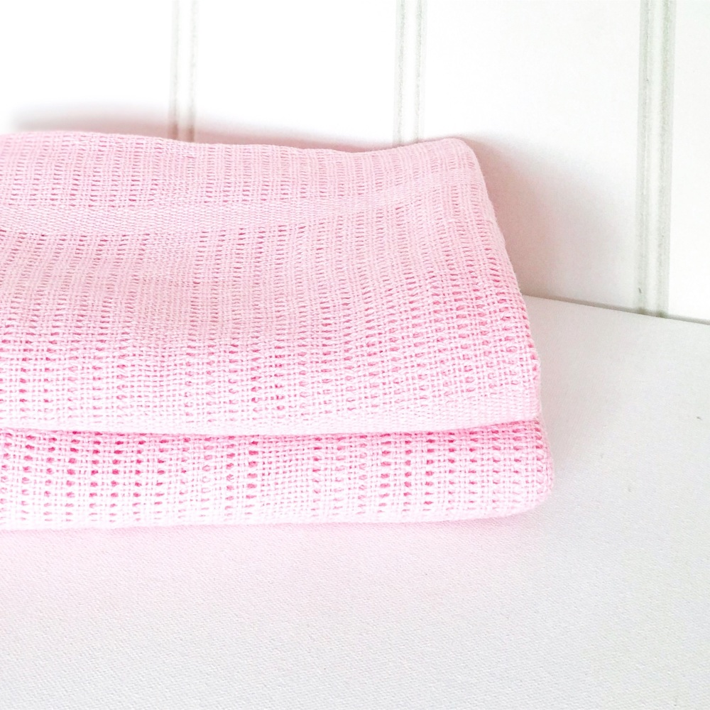 Cotton Cellular Blanket - Pink