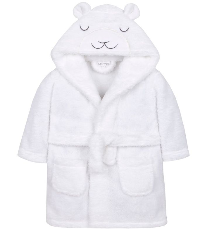 Little Lamb Dressing Gown - White