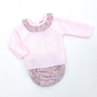 Ivy Knitted Jumper & Jam Pants Set - Pink