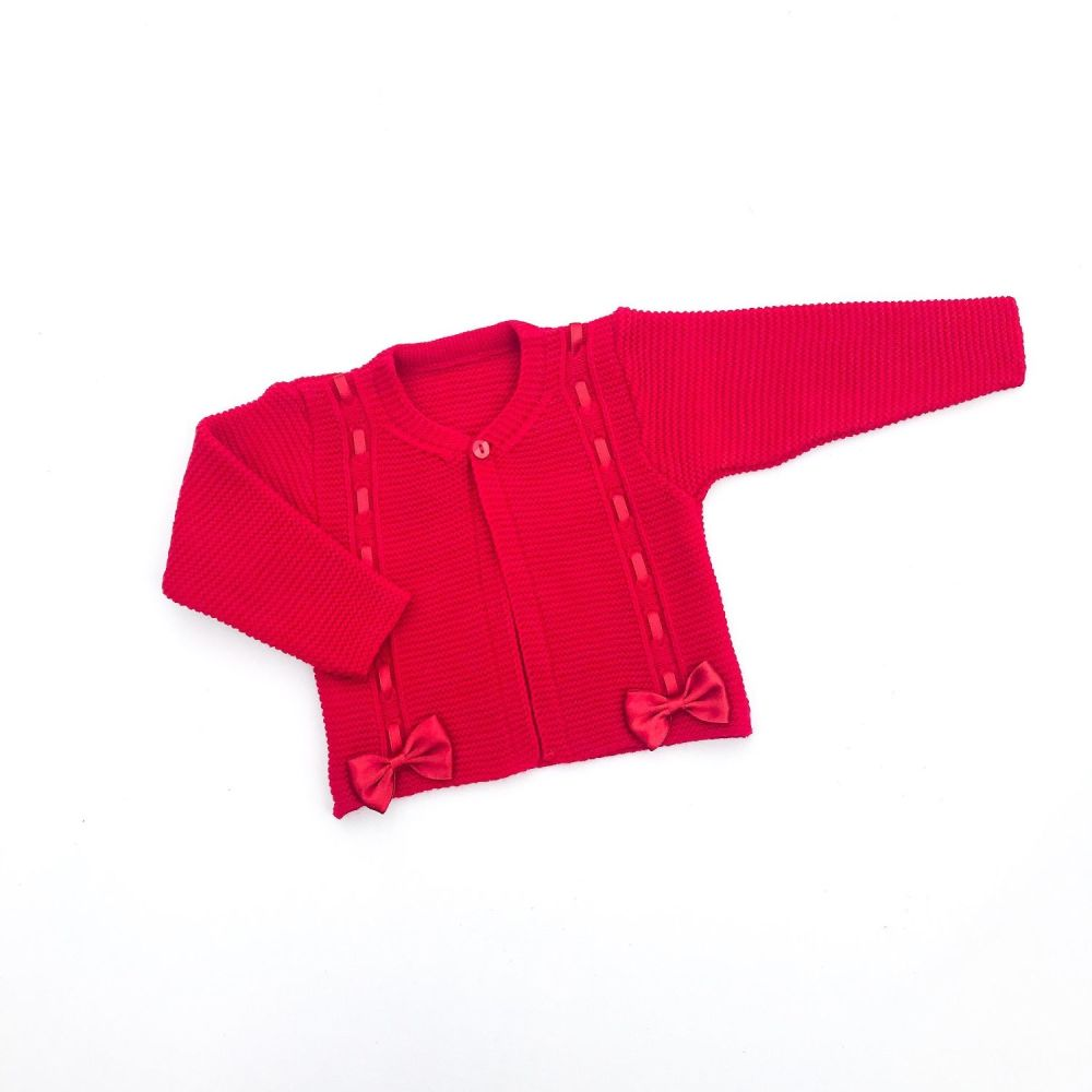 Piper Knitted Cardigan - Red