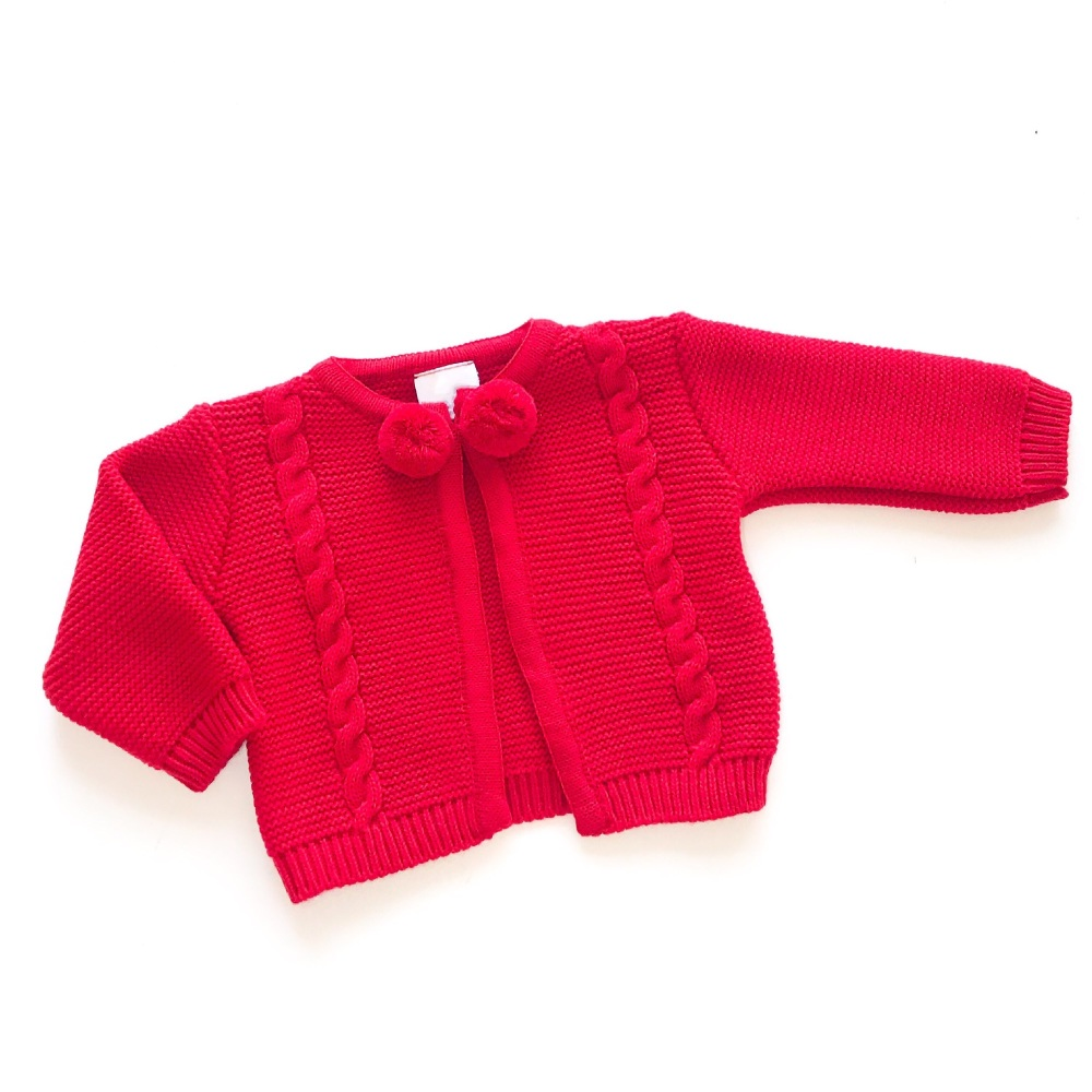 Everly Knitted Cardigan - Red