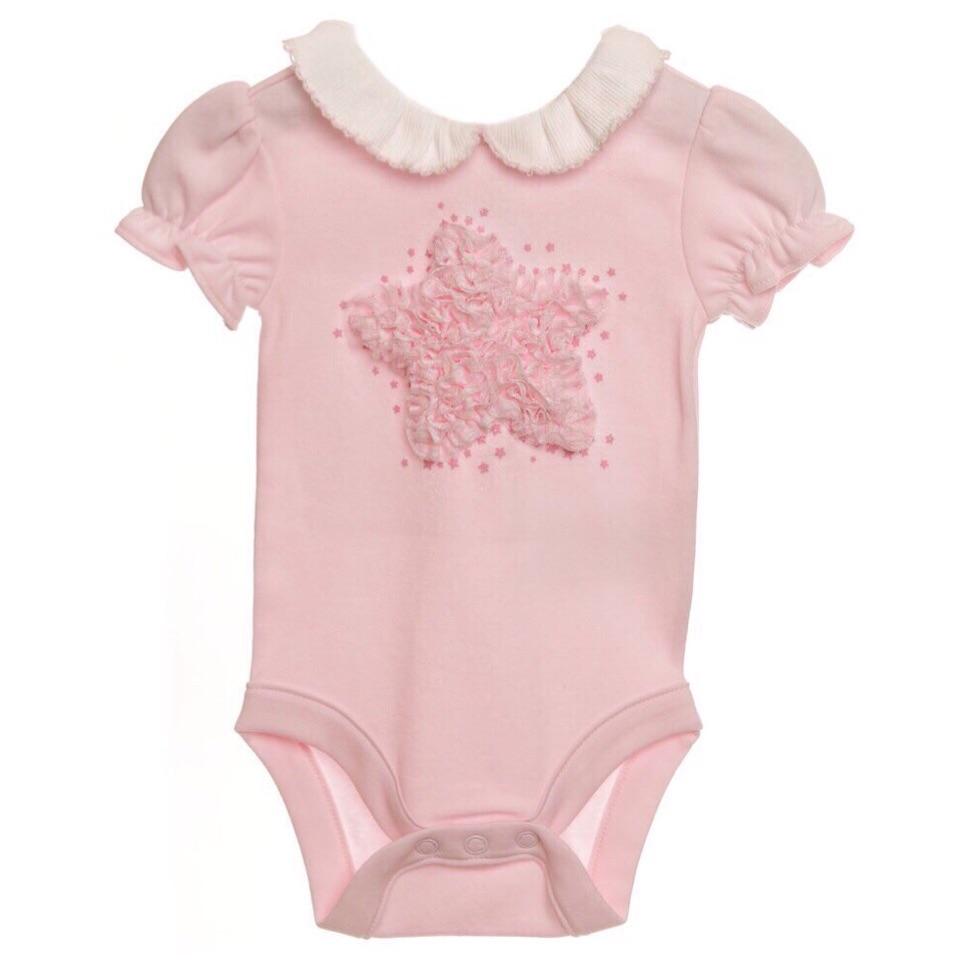 Pink Star Rosette Bodysuit