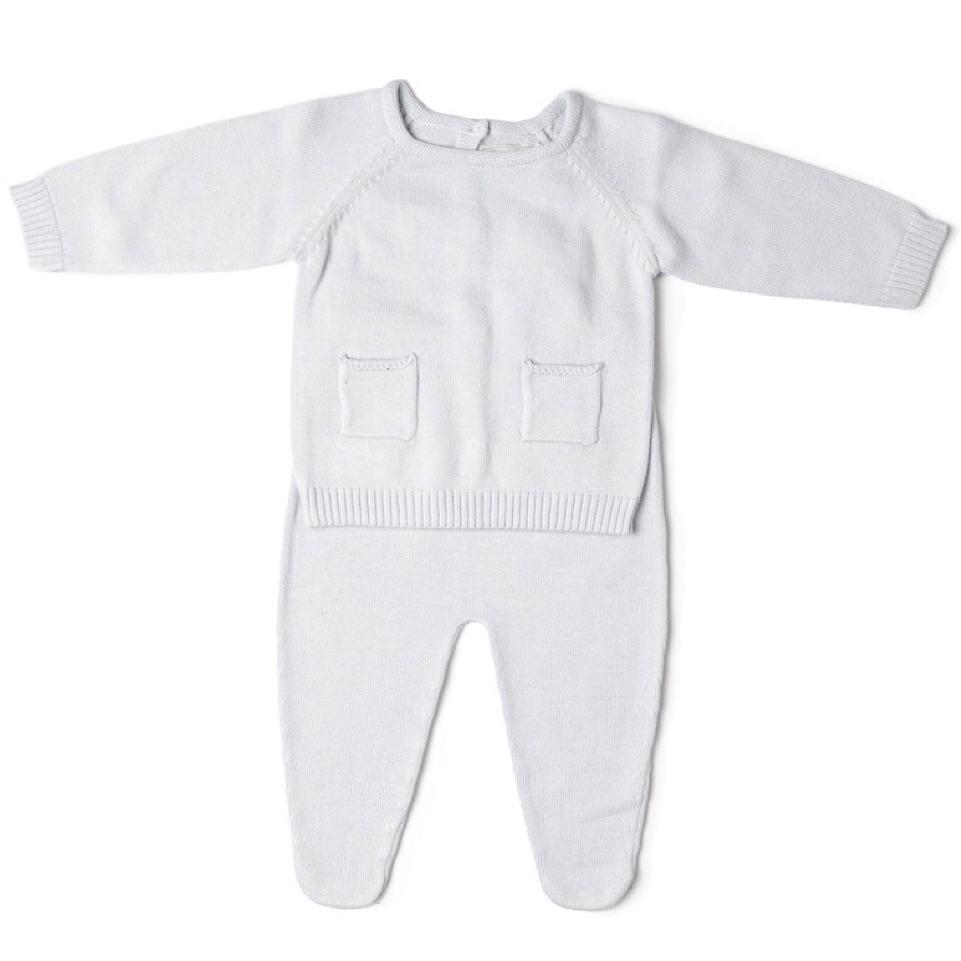 Gabriel Knitted Jumper & Leggings Set - White