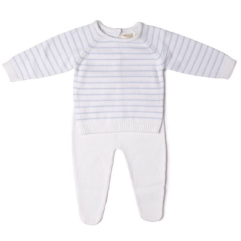 Albie Striped Knitted Jumper & Leggings Set