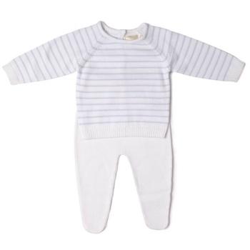 Albie Striped Knitted Jumper & Leggings Set