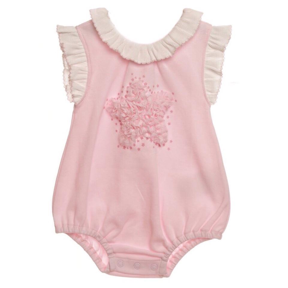 Pink Star Rosette Romper
