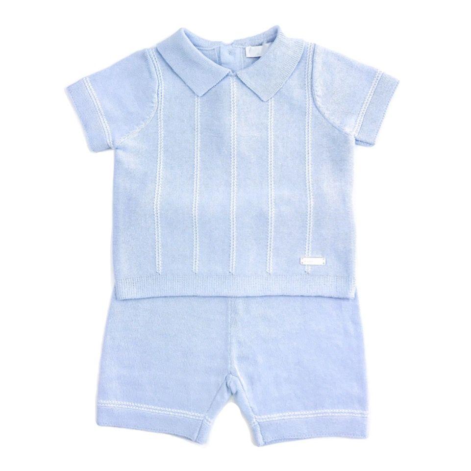 Hugo Knitted Shorts Set - Blue