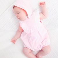 Orla Frill Romper & Bonnet - Pink