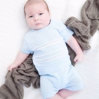 Theodore Knitted Top & Shorts Set - Blue