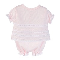 Bella Knitted Top & Pants Set - Pink