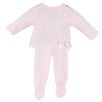 Elodie Knitted Jumper & Pants Set - Pink
