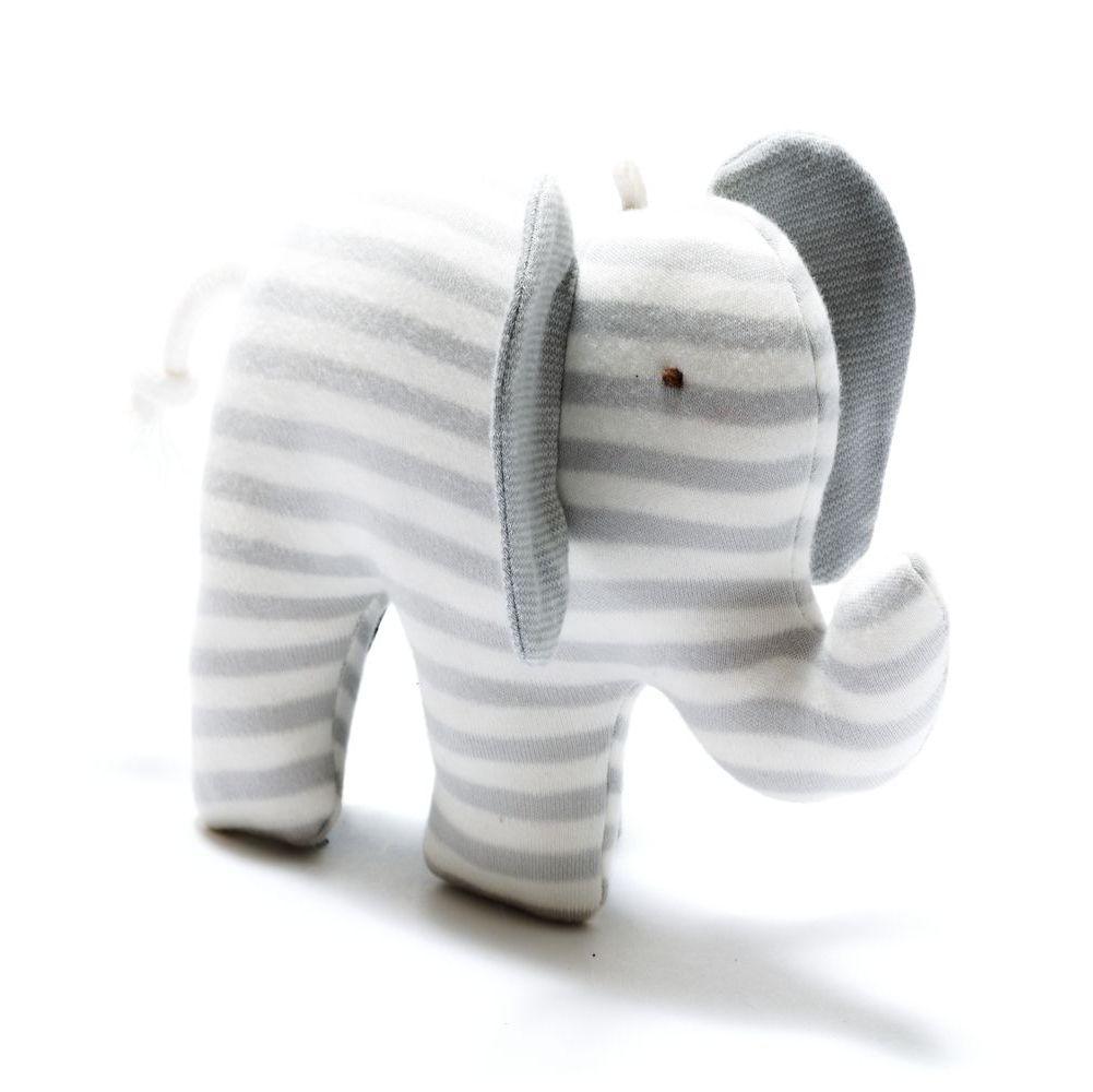 Organic Scrappy Elephant - Grey