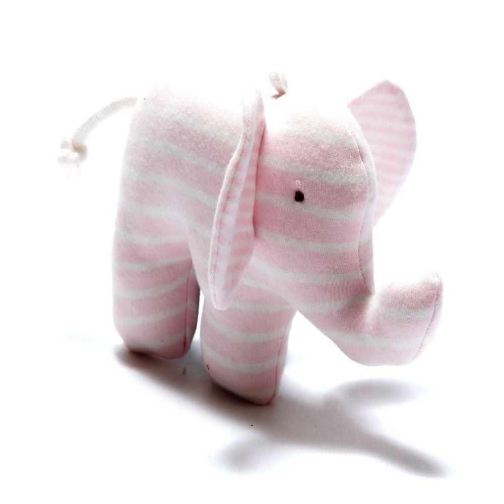 Organic Scrappy Elephant - Pink