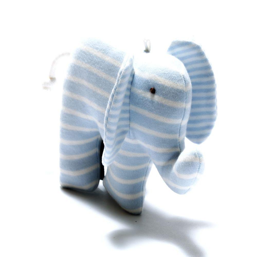 Organic Scrappy Elephant - Blue