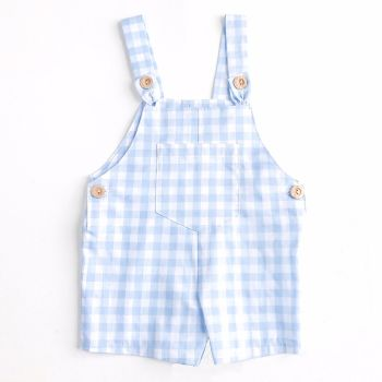 Sawyer Check Dungarees - Blue
