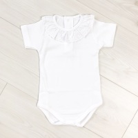 Jersey Cotton Frill Neck Bodysuit