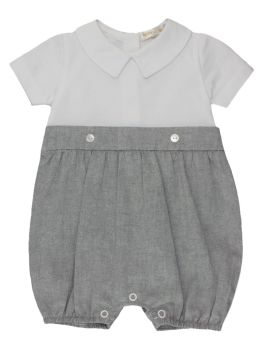 Cooper Cotton Shortie - Grey & White