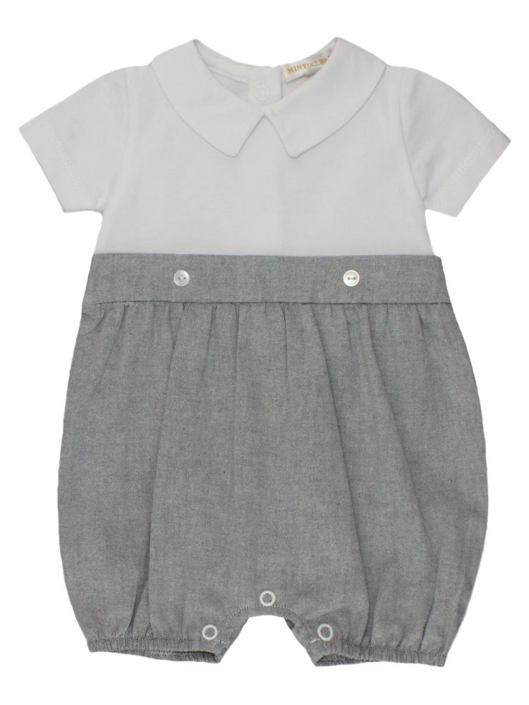 Cooper Cotton Shortie - Grey & White