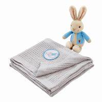 Peter Rabbit Soft Toy & Blanket Gift Set