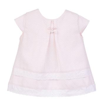 Edie Waffle Pique Dress & Pants Set - Pink