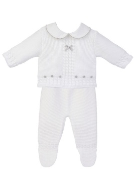 Bailey Knitted Jumper & Pants - White