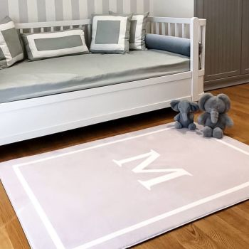 NEW Personalised Play Carpet - Grey & White