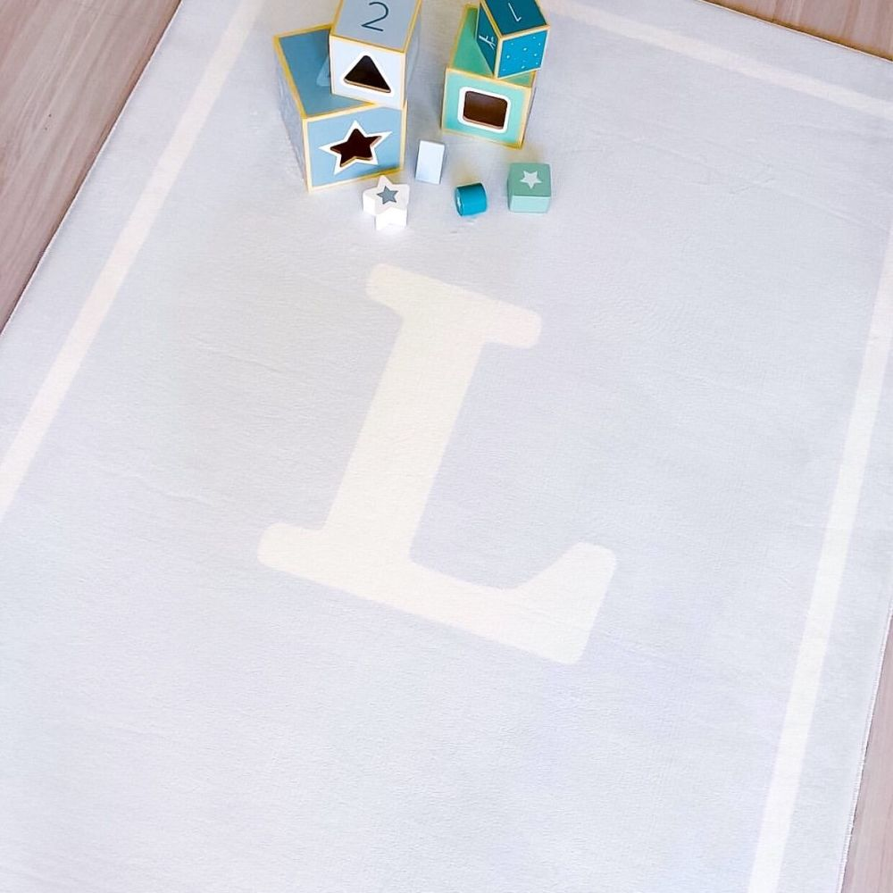 NEW Personalised Play Carpet - Blue/White
