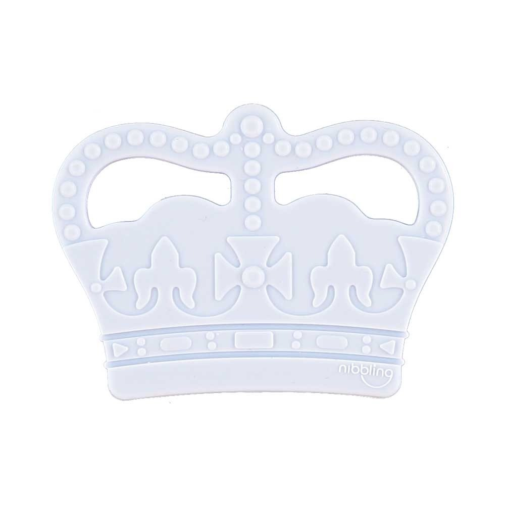 Crown Silicone Teething Toy – Blue