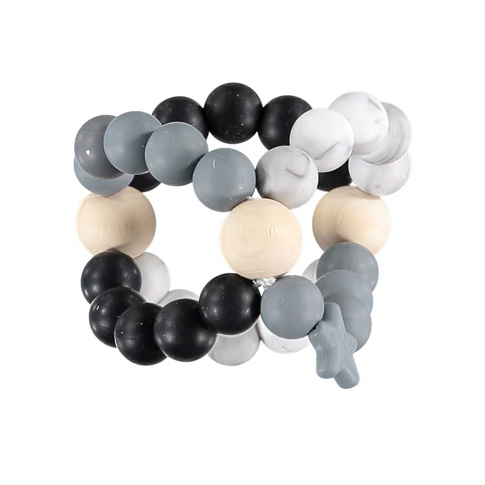 Nib Cube Teether Toy – Black and Marble