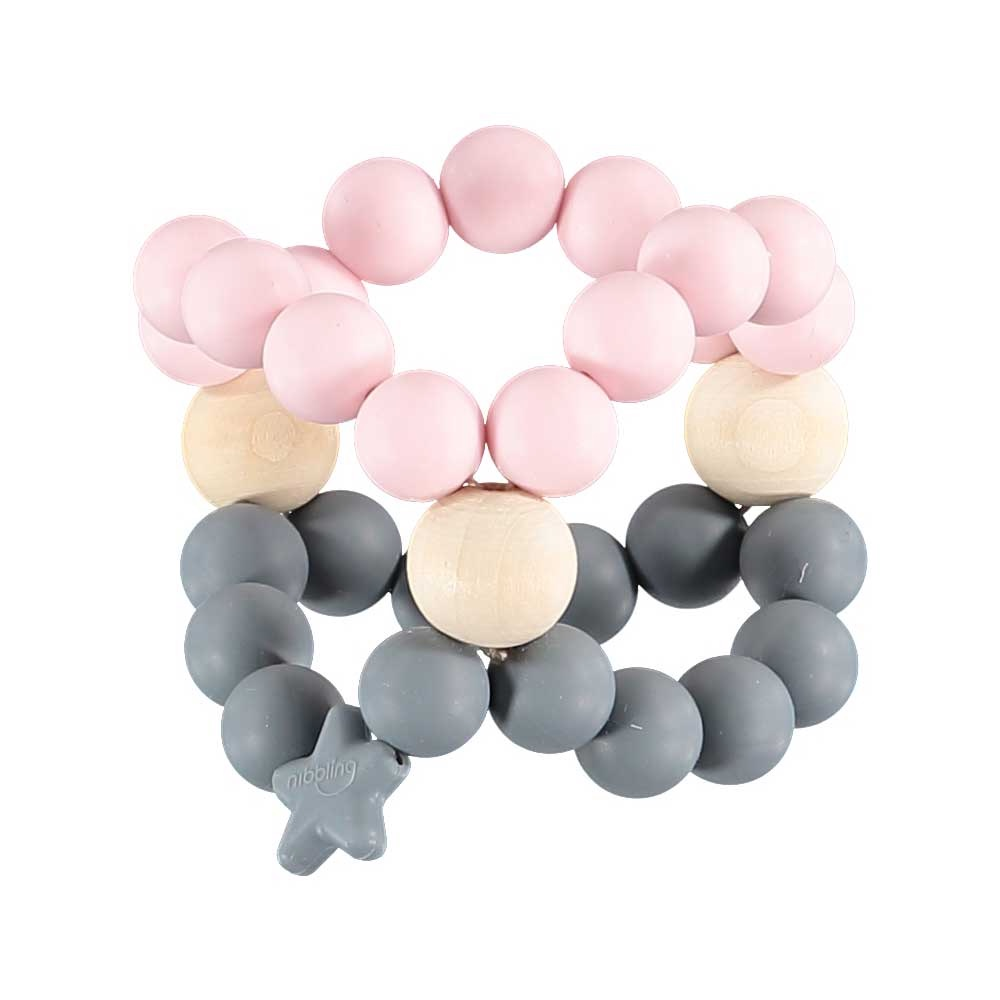 Nib Cube Teether Toy – Pink and Grey