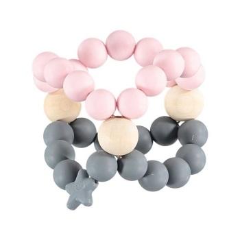 Nibbling Nib Cube – Pink and Grey