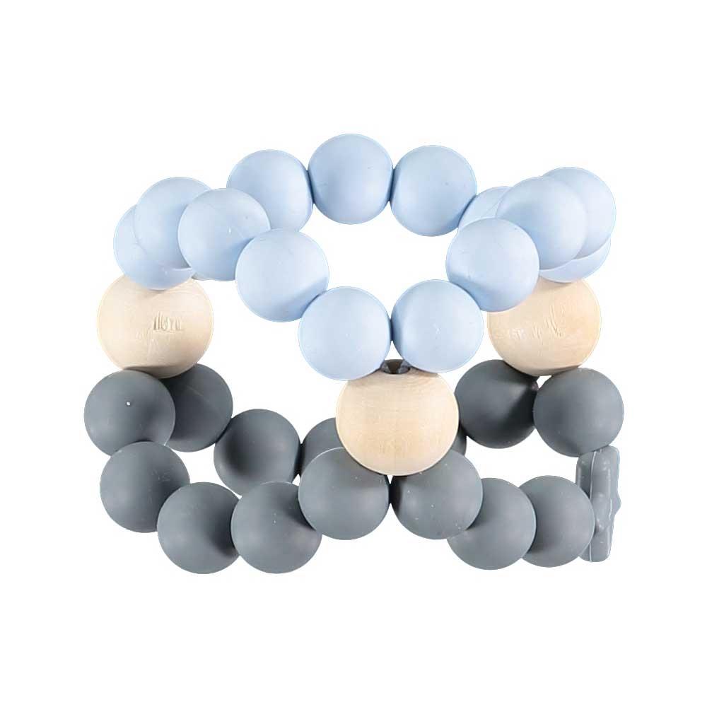 Nib Cube Teether Toy – Blue and Grey