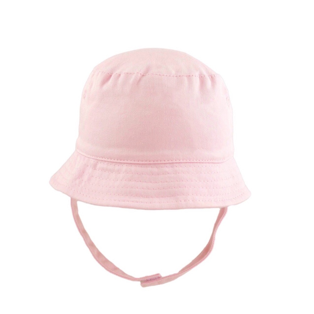 Summer Hat With Strap - Pink