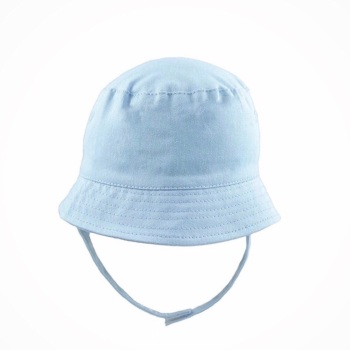 Summer Hat With Strap - Blue