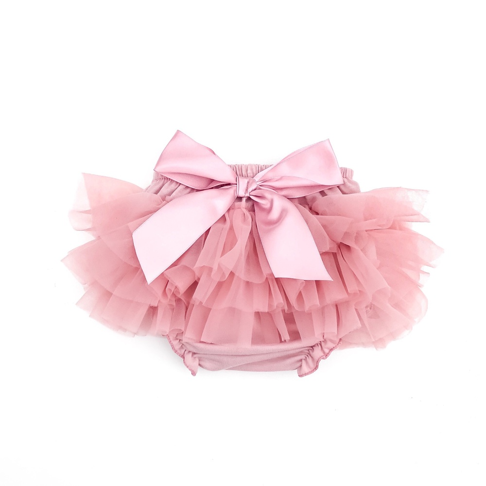 NEW - Tutu Bloomers With Bow - Rose