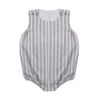 Marley Striped Romper - Grey