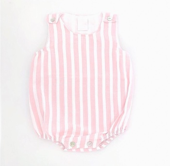 Marley Striped Romper - Pink