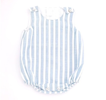 Marley Striped Romper - Blue