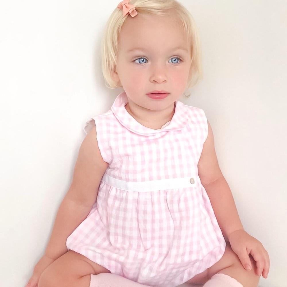 Ellery Gingham Romper - Pink