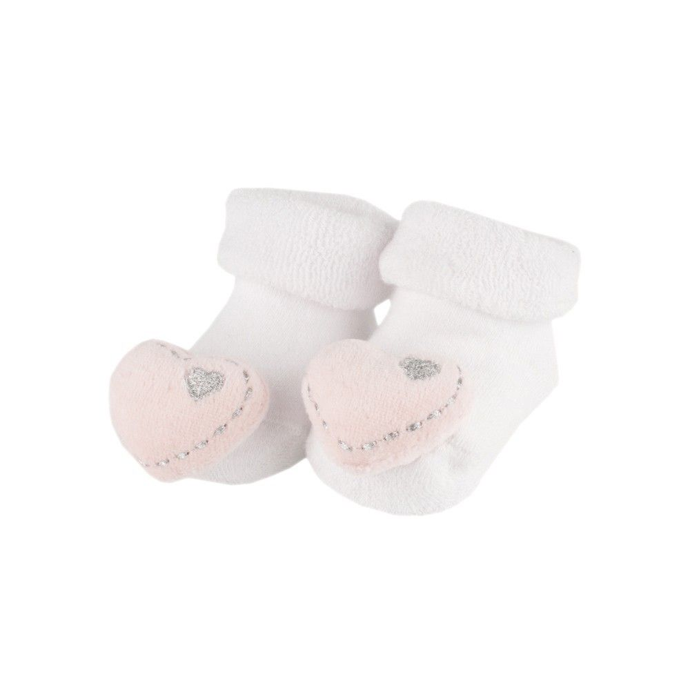 BAM BAM Pink Heart Rattle Booties