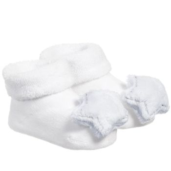 BAM BAM Baby Blue Star Rattle Booties