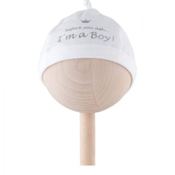 """BAM BAM Baby """"I'm A Boy"""" Beanie Hat"""
