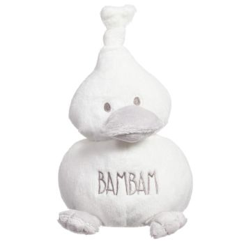BAM BAM Baby Cuddle Duck Rattle Toy - Grey
