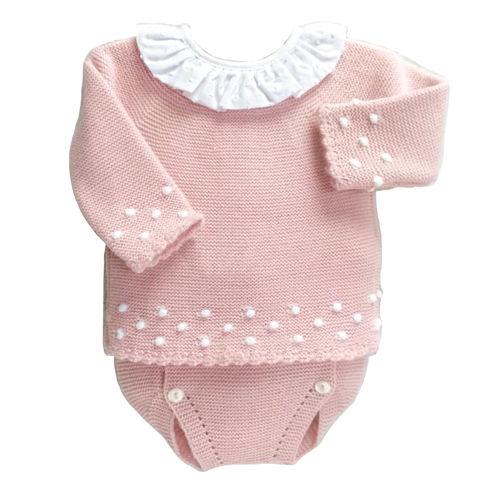 Charlotte Frill Jumper & Pants Set - Rose