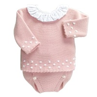 Charlotte Frill Neck Jumper & Pants Set - Rose