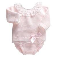 Leonie Lace Frill Jumper & Pants Set - Pink