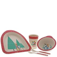 Beatrix Potter Peter Rabbit Christmas Bamboo Dinner Set