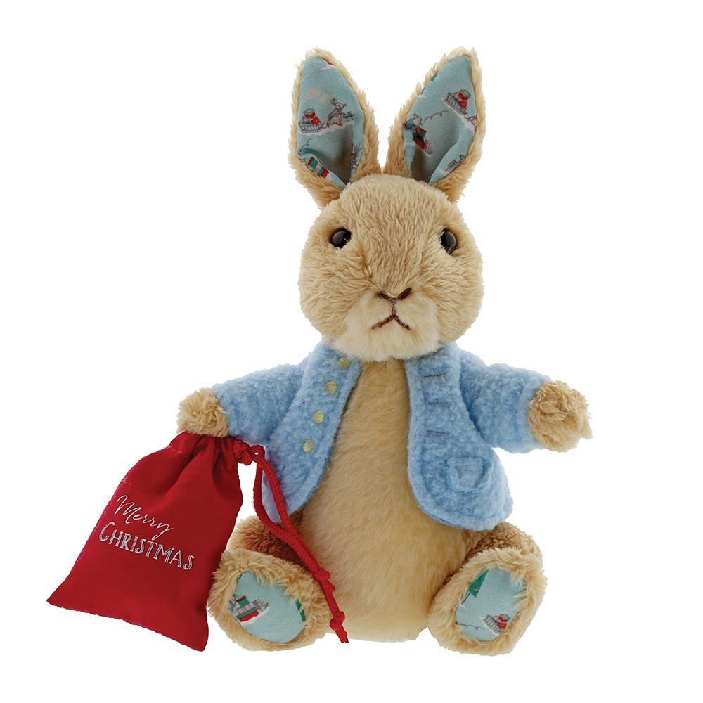 Beatrix Potter Peter Rabbit Christmas Small Soft Toy