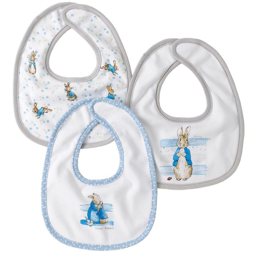 Beatrix Potter Peter Rabbit Baby Collection Bib (set of 3)